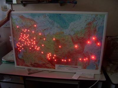 Карта со светодиодами