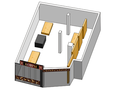 Визуализация торговых площадей. Проект