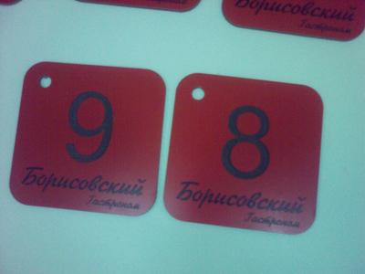 Номер для камеры хранения в супермаркете.