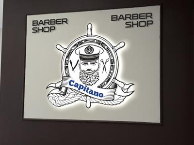 Логотип. Фигурный элемент на дистанционных держателях
